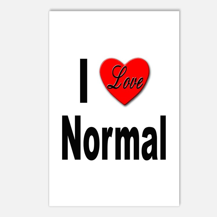 I Love Normal Postcards (Package of 8)