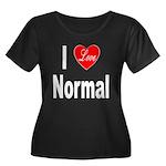 I Love Normal (Front) Women's Plus Size Scoop Neck
