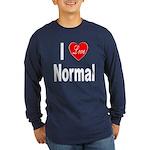 I Love Normal (Front) Long Sleeve Dark T-Shirt
