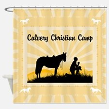 Custom Praying Cowboy Shower Curtain