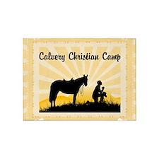 Custom Praying Cowboy 5'x7'Area Rug