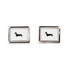 Weiner Dog Rectangular Cufflinks