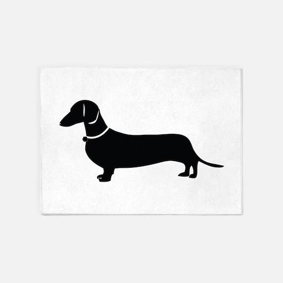 Weiner Dog 5'x7'Area Rug
