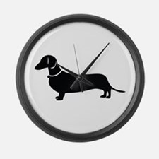 Weiner Dog Large Wall Clock