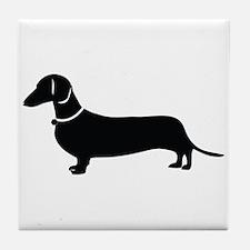 Weiner Dog Tile Coaster