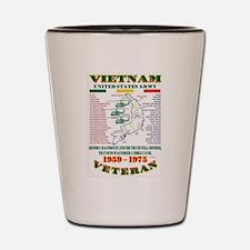 VIETNAM WAR. US ARMY UNIT & OPERATIONS Shot Glass