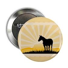 "Western Horse 2.25"" Button"