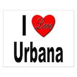 I Love Urbana Small Poster