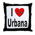 I Love Urbana Throw Pillow