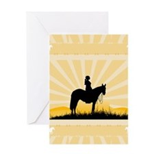 Western Cowgirl Greeting Card