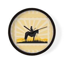 Western Cowgirl Wall Clock
