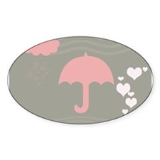 Pink Umbrella Grey Decal