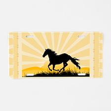 Western Horse Aluminum License Plate
