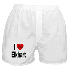 I Love Elkhart Boxer Shorts