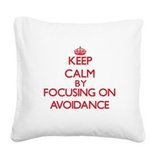 Avoidance Square Canvas Pillow