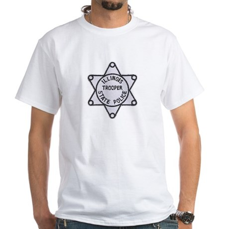 Illinois State Police White T-Shirt