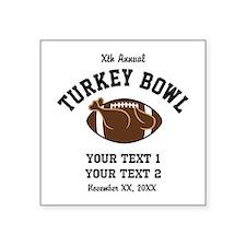Personalized Turkey Bowl Sticker