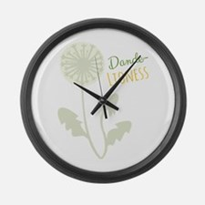 Dande-lioness Large Wall Clock