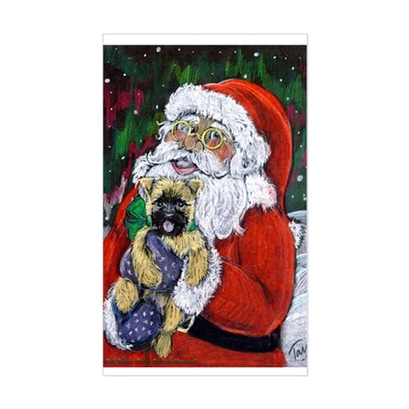 Santa and Me Cairn Sticker (Rect.)