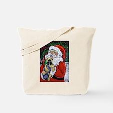 Santa and Me Cairn Tote Bag