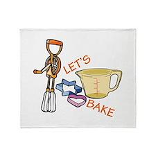 Lets Bake Throw Blanket