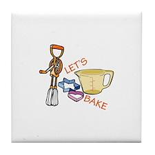 Lets Bake Tile Coaster