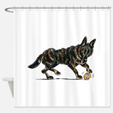 German Shepherd Dax Shower Curtain
