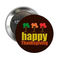 "Brown Thanksgiving 2.25"" Button (10 pack)"