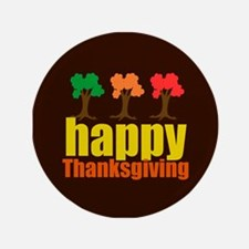 """Brown Thanksgiving 3.5"""" Button (100 pack)"""