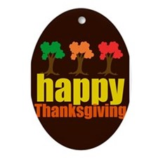 Brown Thanksgiving Ornament (Oval)