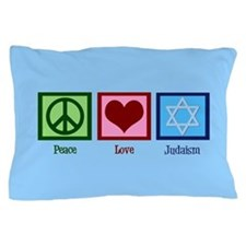 Blue Jewish Pillow Case