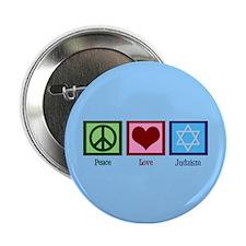 """Blue Jewish 2.25"""" Button"""