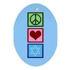 Blue Jewish Ornament (Oval)