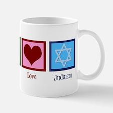 Peace Love Judaism Mug