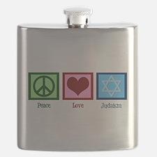 Peace Love Judaism Flask