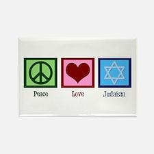 Peace Love Judaism Rectangle Magnet