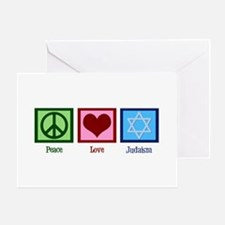 Peace Love Judaism Greeting Card