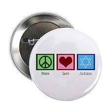 "Peace Love Judaism 2.25"" Button"
