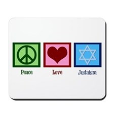 Peace Love Judaism Mousepad