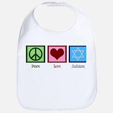 Peace Love Judaism Bib