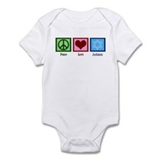 Peace Love Judaism Infant Bodysuit