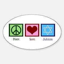 Peace Love Judaism Decal