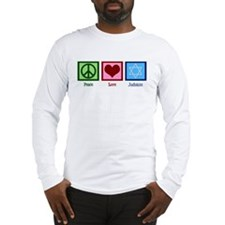 Peace Love Judaism Long Sleeve T-Shirt