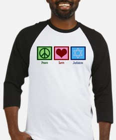 Peace Love Judaism Baseball Jersey