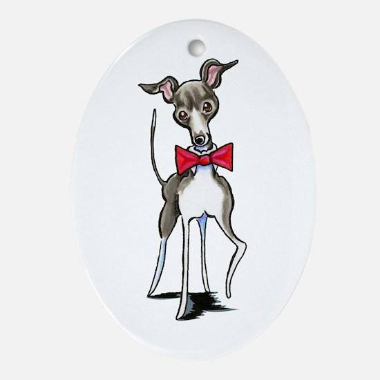 Italian Greyhound Antonio Ornament (Oval)