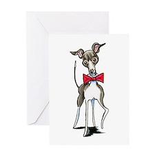 Italian Greyhound Antonio Greeting Cards