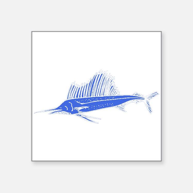 Blue Sail Fish Sticker
