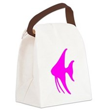 Pink Angel Fish Canvas Lunch Bag