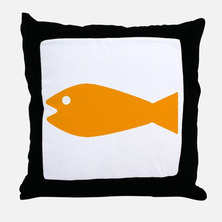 Orange Goldfish Throw Pillow