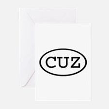 CUZ Oval Greeting Cards (Pk of 10)